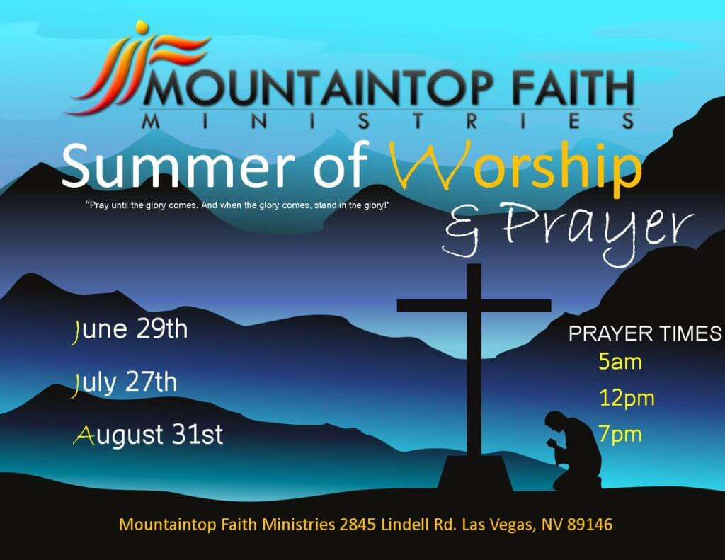 summer of prayer 2016